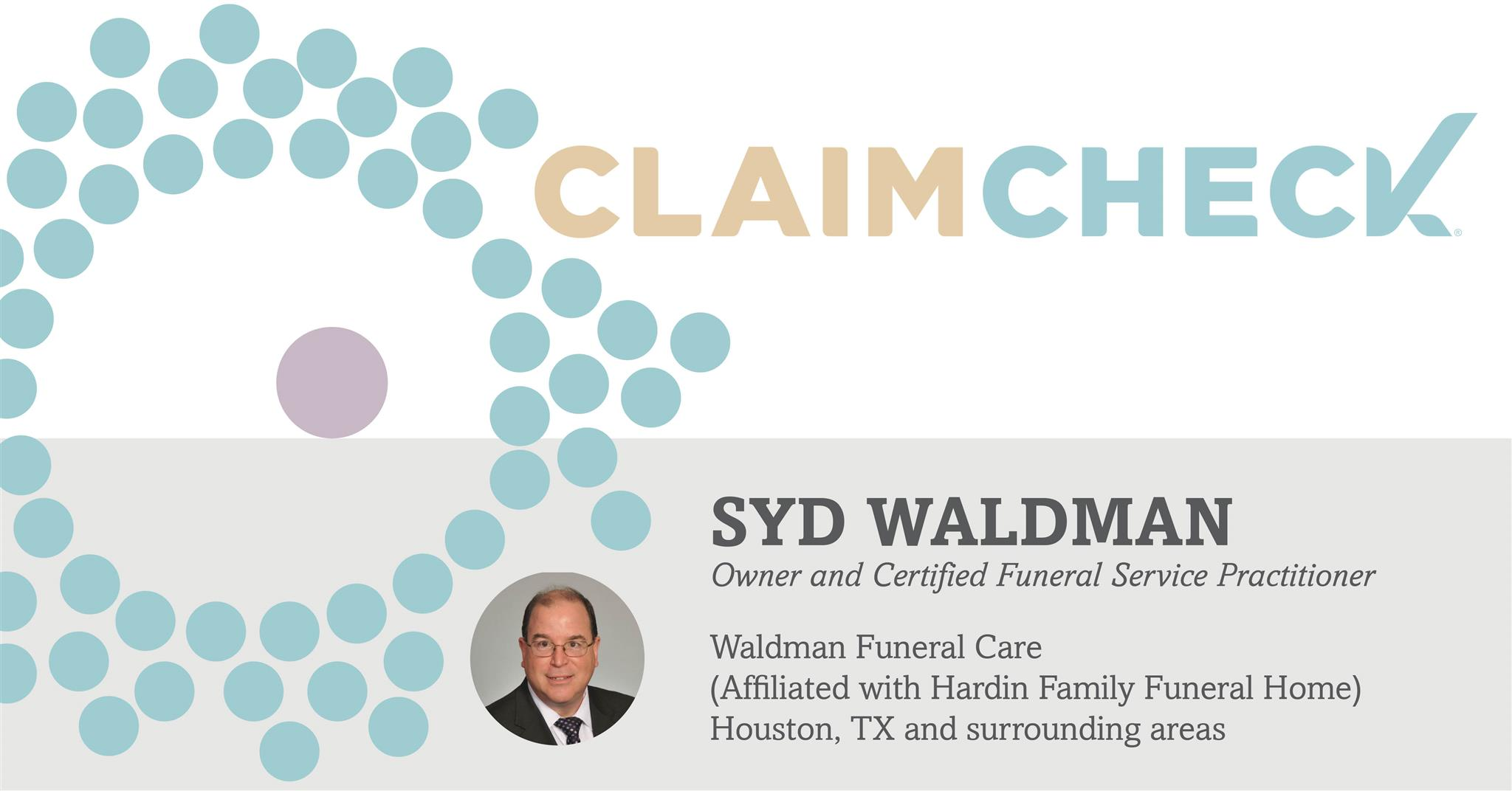 why claimcheck waldman funeral care